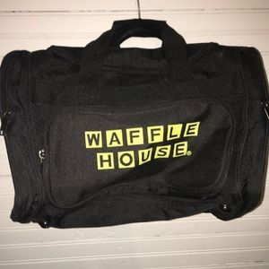Other - WAFFLE HOUSE SMALL BLACK DUFFLE BAG